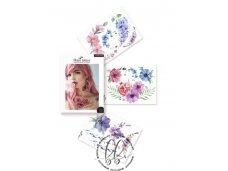 LAIKINŲ TATUIRUOČIŲ RINKINYS Flower Power by ANNA LIMANSKA (3 lapai A6)