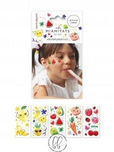 LAIKINŲ TATUIRUOČIŲ RINKINYS Tutti Frutti (5 lapeliai)
