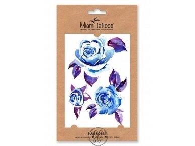 LAIKINŲ TATUIRUOČIŲ RINKINYS Blue Roses