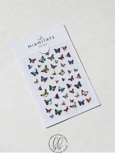 Lipdukai nagų dekoravimui Butterfly