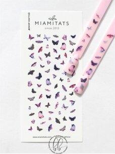 Lipdukai nagų dekoravimui Pink butterfly